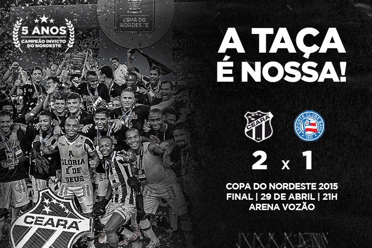 Vozão TV transmite a grande final da Copa do Nordeste 2015
